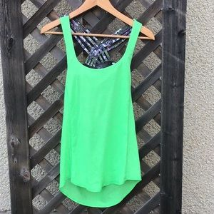 Lululemon athletic tank with bra and slouched back